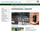 Papperskorgar, askkoppar på webbplats