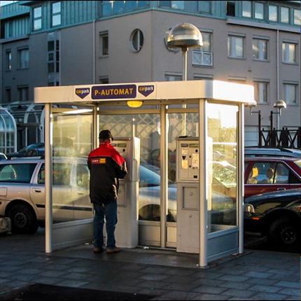Weland Väderskydd, parkeringsautomater