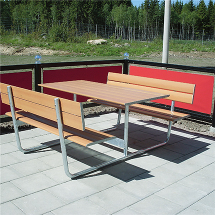 Bänkbord för rastplatser och uteserveringar