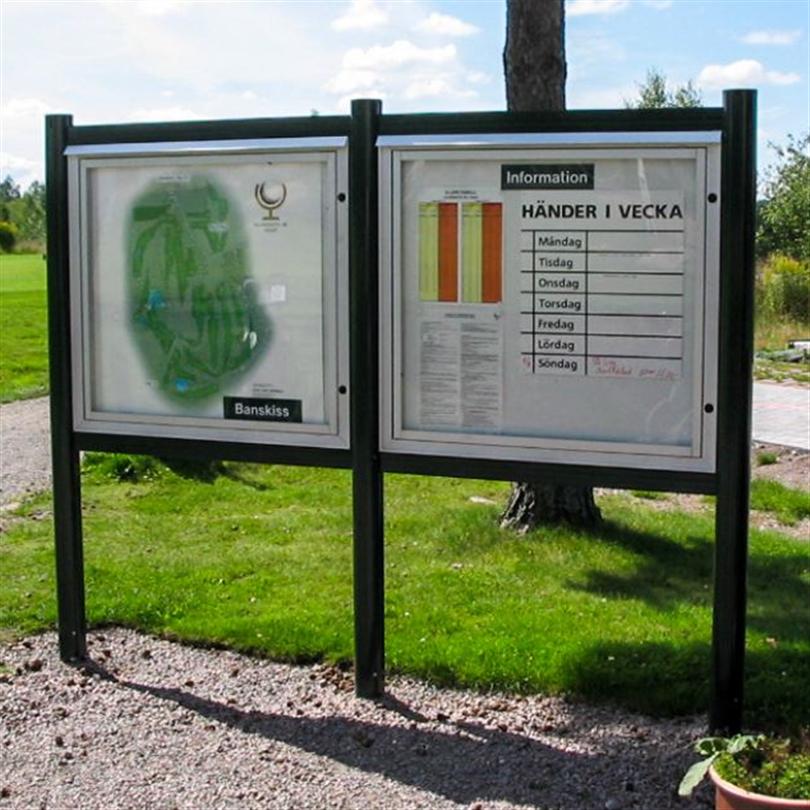 Weland låsbara Informationsskåp