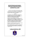 Leksandsdörren Monterings- och skötselanvisningar, Garanti