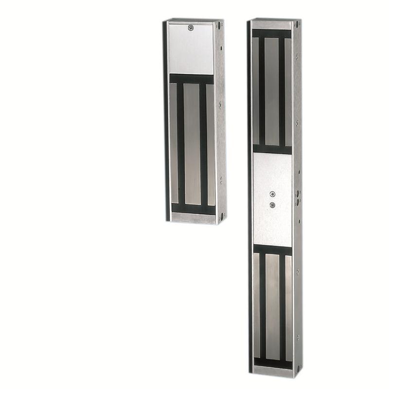 Elektromagnetisk dörrmagnet, multispänning, utanpåliggande montering, hög hållkraft, elektromagnetisk lås, dolda fästen, tre indikeringsnivåer