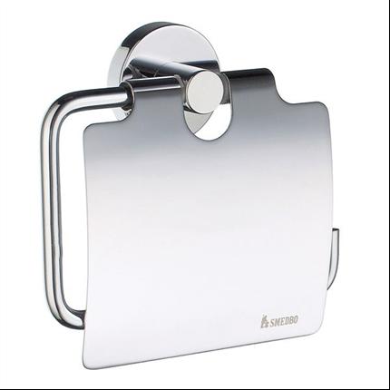 Smedbo HOME toalettpappershållare med lock