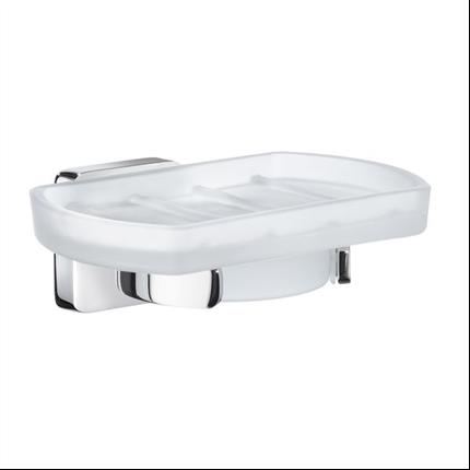 Smedbo ICE badrumsserie- Hållare med tvålkopp i porslin
