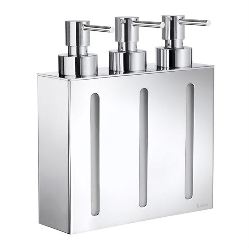 FK258. Tvåldispenser med två behållare, för väggmontering