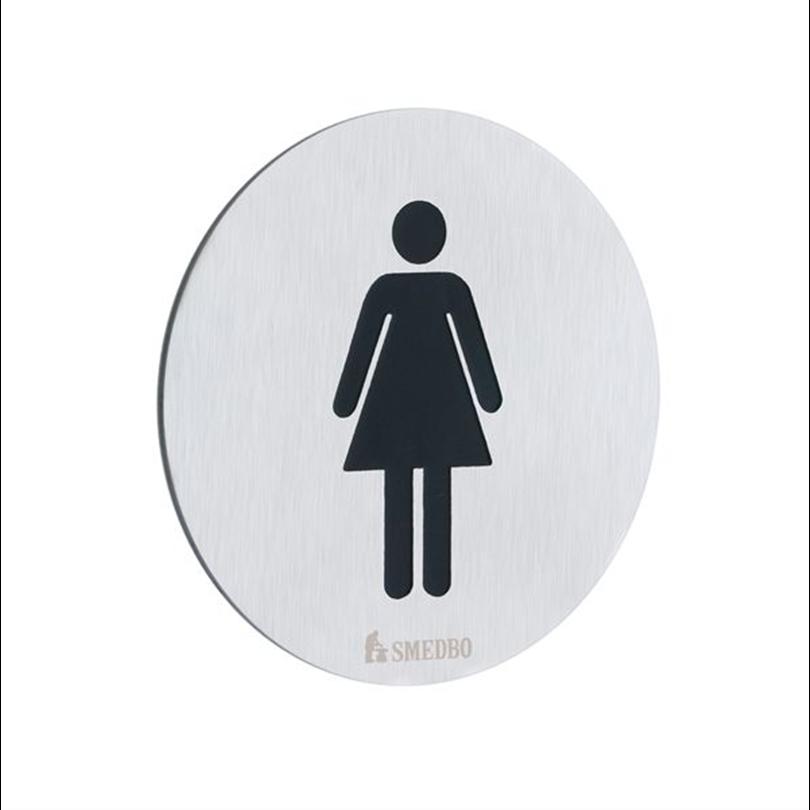 Smedbo WC-skylt dam självhäftande