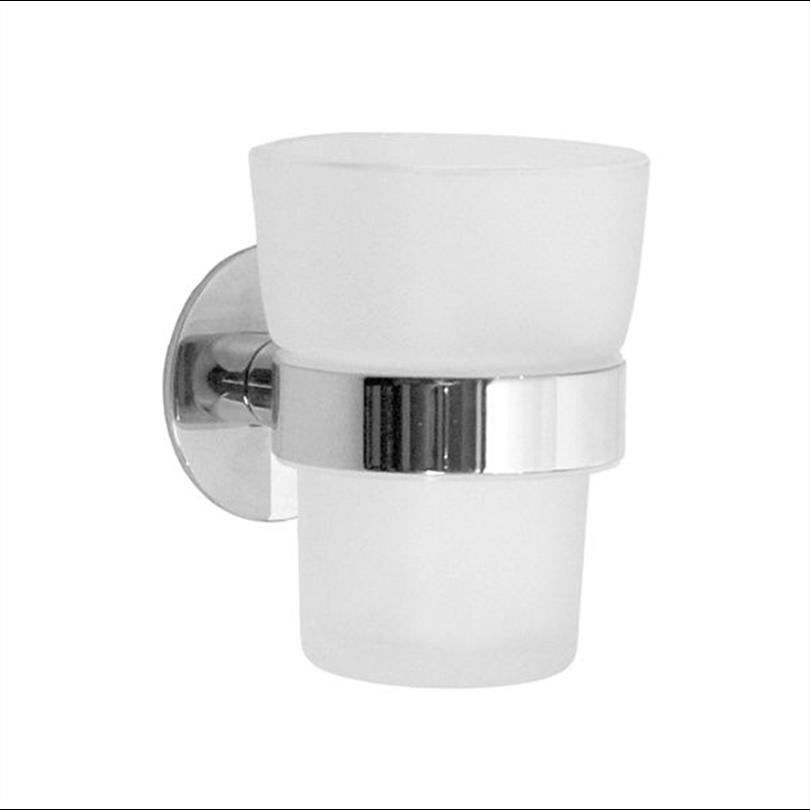 YK343. Hållare med frostat tandborstglas