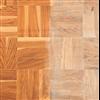 Timberex Oil & Wax Remover, före och efterbild