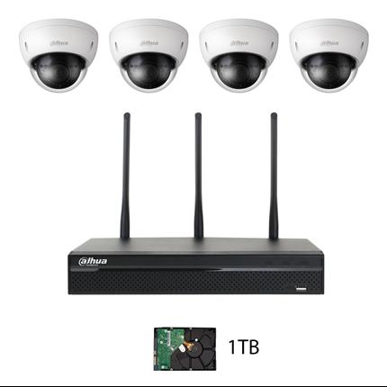 NVR KIT WIFI NVR4104HS-W-S2/4XHDBW1320EP-W kamerapaket