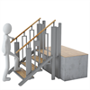 Trident FlexStep lyftplattform, 4 steg