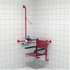 Trident Utrustning för duschar, Click-on-duschsits på Linido handtag för två väggar