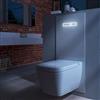 TECElux WC-modul med kvadratiskt wc-porslin och nattbelysning