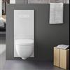 TECElux WC-modul med runt wc-porslin och nattbelysning