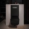 TECElux WC-modul med svart, kvadratiskt wc-porslin och nattbelysning
