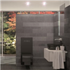 TECElux WC-modul med svart, kvadratiskt wc-porslin