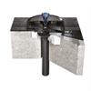 Geberit Pluvia takavlopp på betongtak med takfolie av bitumen