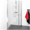 Combac duschvägg Cirkel, klarglas, blank profil