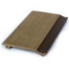 Fasadpanel av träkomposit, mörkbrun