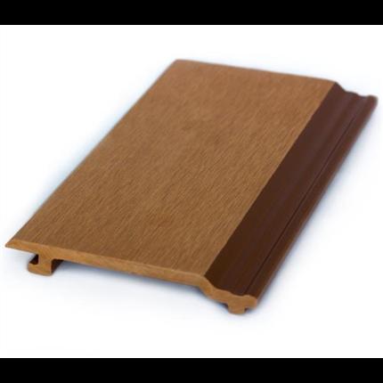 Fasadpanel av träkomposit, ljusbrun
