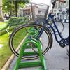 Cyklos ZETA mobilt cykelställ med stängd bygel, Grönagatan, Örebro