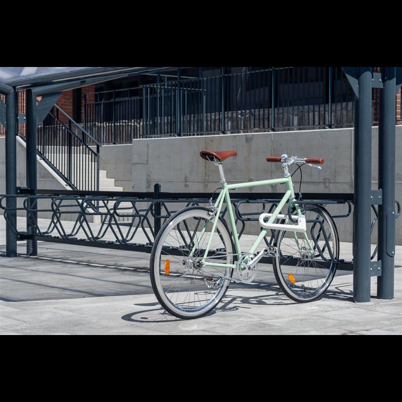 Cyklos cykelställ med ramlåsning