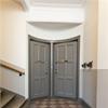 Säkerhetsdörrar, tidningshållare, trapphusrenoviering, Brf Eldaren 10, Stockholm