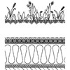 Takuppbyggnad med vegetation, Evalastic
