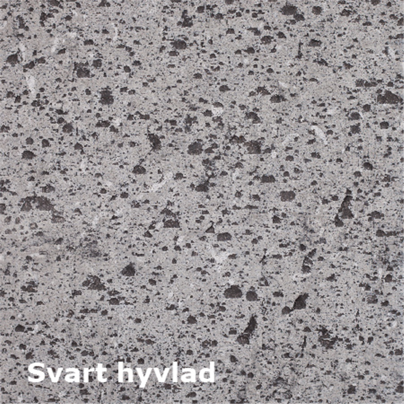 Dala Sten golvplattor Jämtland svart hyvlad