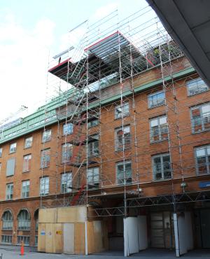 Användningsområde - Byggnadsställningar