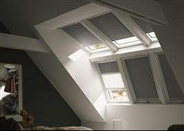 VELUX takfönsterkupa kan fås med solskydd
