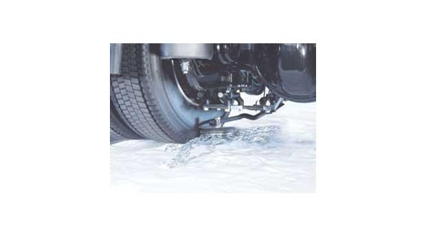 Automatiska snökedjor för lätta lastbilar