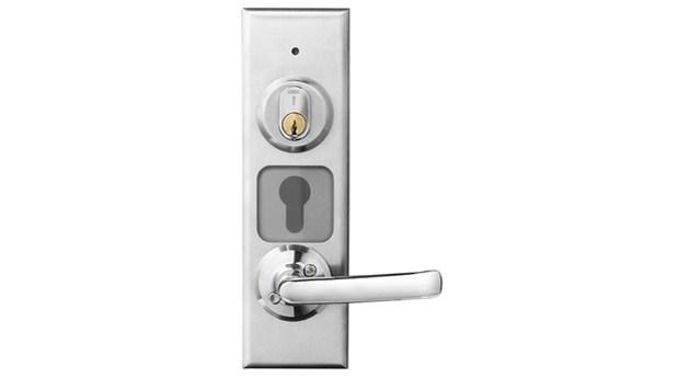 Beröringsfri läsare med inbyggt lås