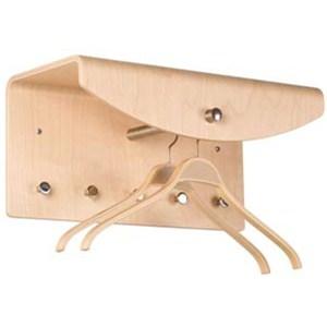 Formpressad hatthylla för väggmontering