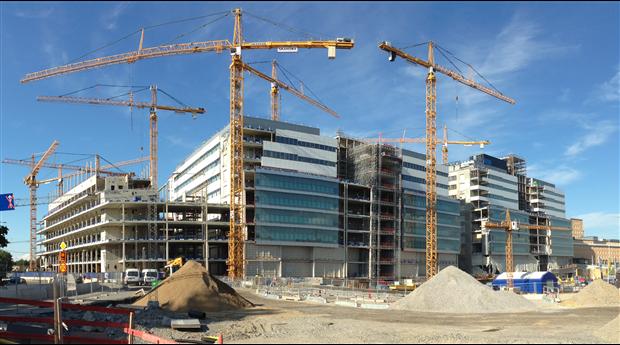Avmattning för lokalbyggandet under första kvartalet