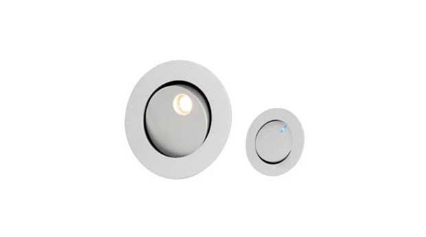 Sänglampa för diskret montering