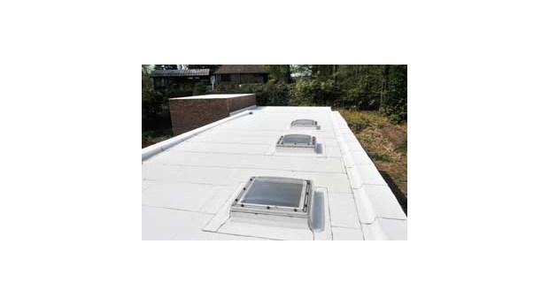 Grönt tak som är vitt