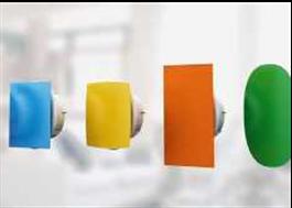 Färgglada fläktventiler