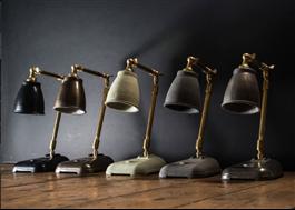Lampor gjorda av Jesmonite