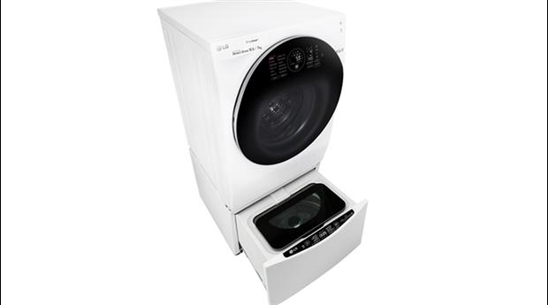 Två tvättmaskiner i en