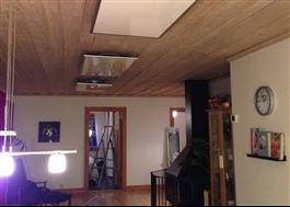 Man kan montera flera paneler i större rum