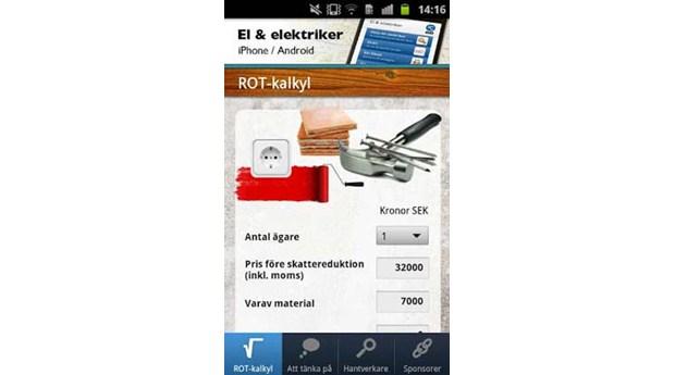 Räkna på ROT med app