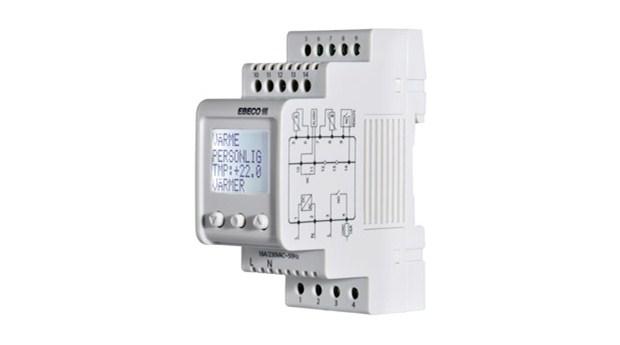 Mångfunktionell DIN-monterad termostat
