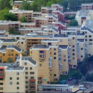 Flerbostadshusen från 1990-talet. Foto: Harald Holm