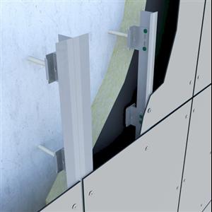 Passivhuscertifierad infästning för fasader