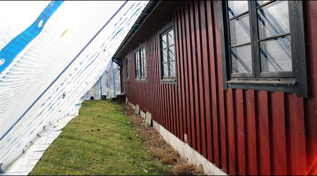 Måla fasaden i regn