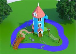 Plan över nya Muminlekplatsen