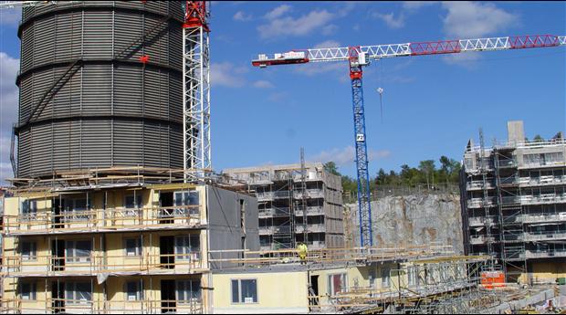 Tio år av kraftigt husbyggande