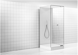 Finns som duschkabin och för integrering i golv