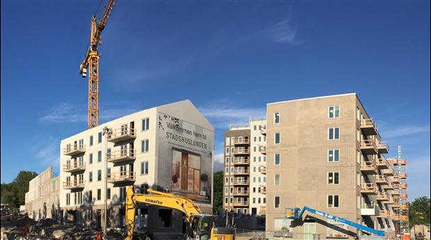 Byggloven för bostäder visar nedgång. Foto: Harald Holm