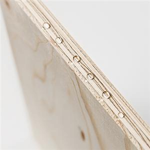 WISA-SpruceWR är en ny plywood med vattenavvisande, andningsbar yta som gör att den klarar en kort exponering av nederbörd utan att behöva skyddas om vädret snabbt ändras.